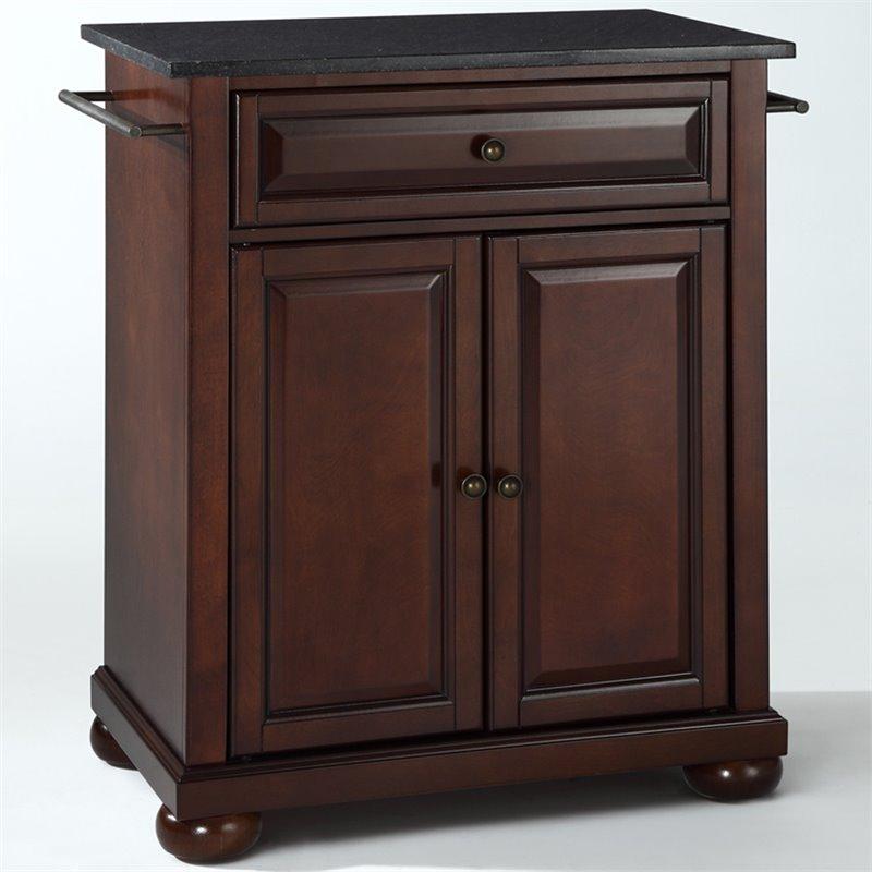 Crosley Furniture Alexandria Black Granite Top Mahogany