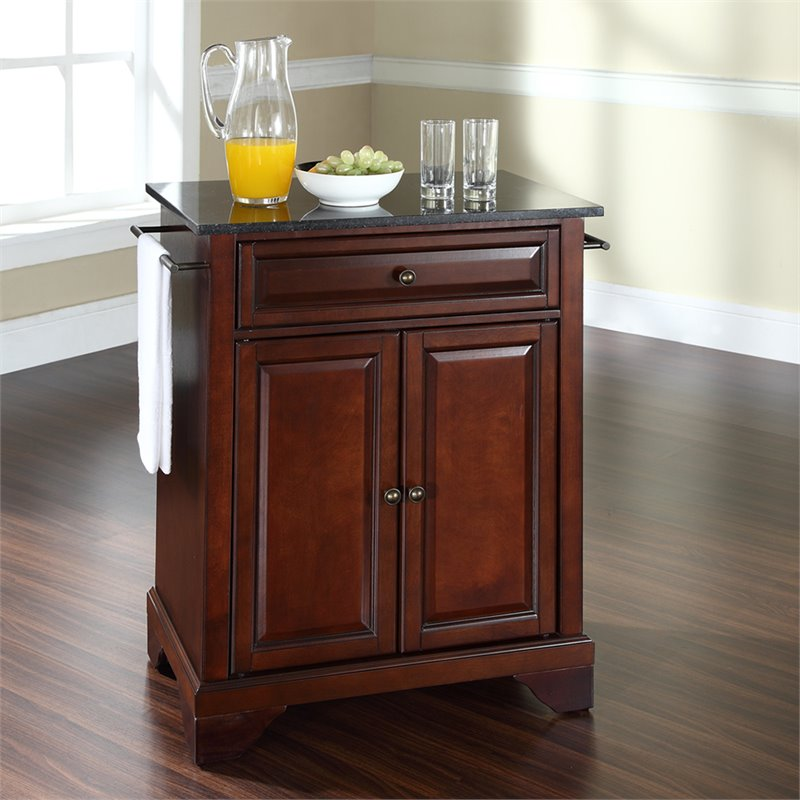 Crosley Furniture LaFayette Black Granite Top Mahogany