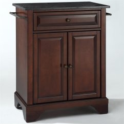 Crosley Kitchen Island 3 Piece Table Furniture Lafayette Black Granite Top Mahogany Kf30024bma