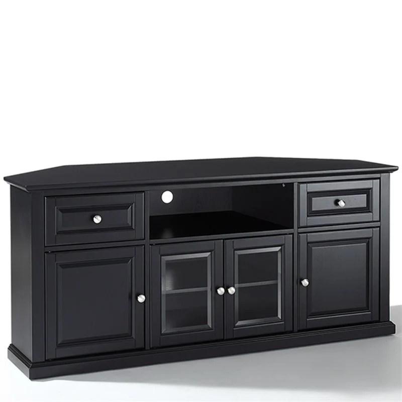 Crosley Furniture 60 Corner Black TV Stand  eBay