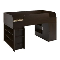 Loft Bed with Bookcase in Resort Cherry - 5861207PCOM