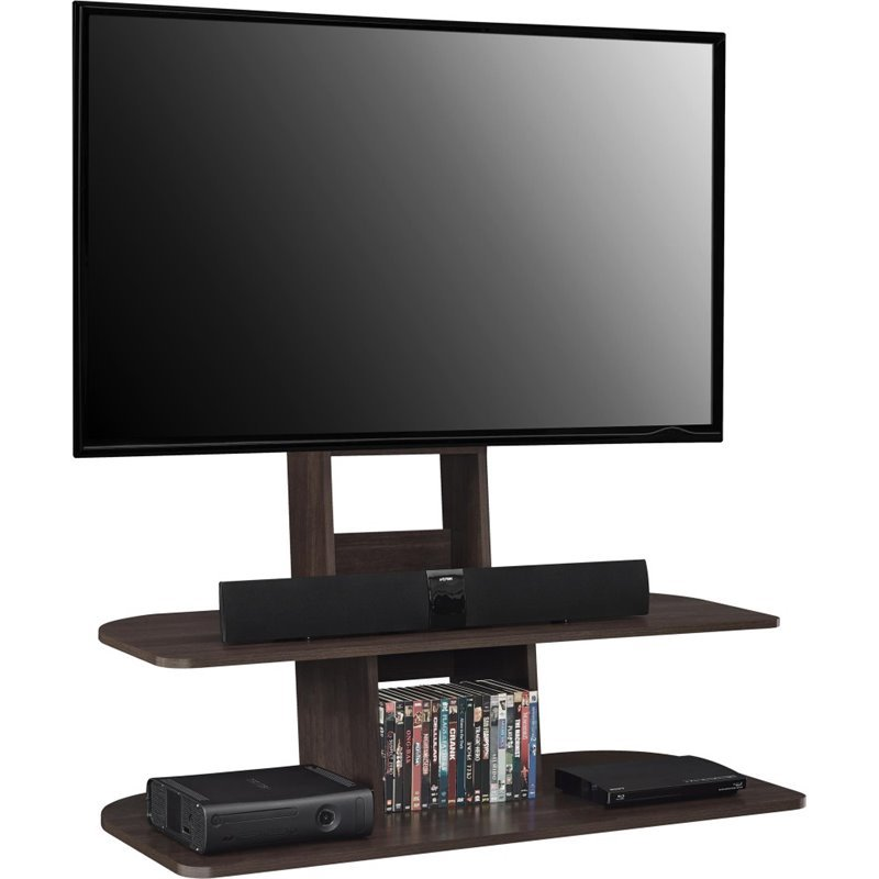 65 TV Stand With Mount In Dark Walnut 1761196PCOM