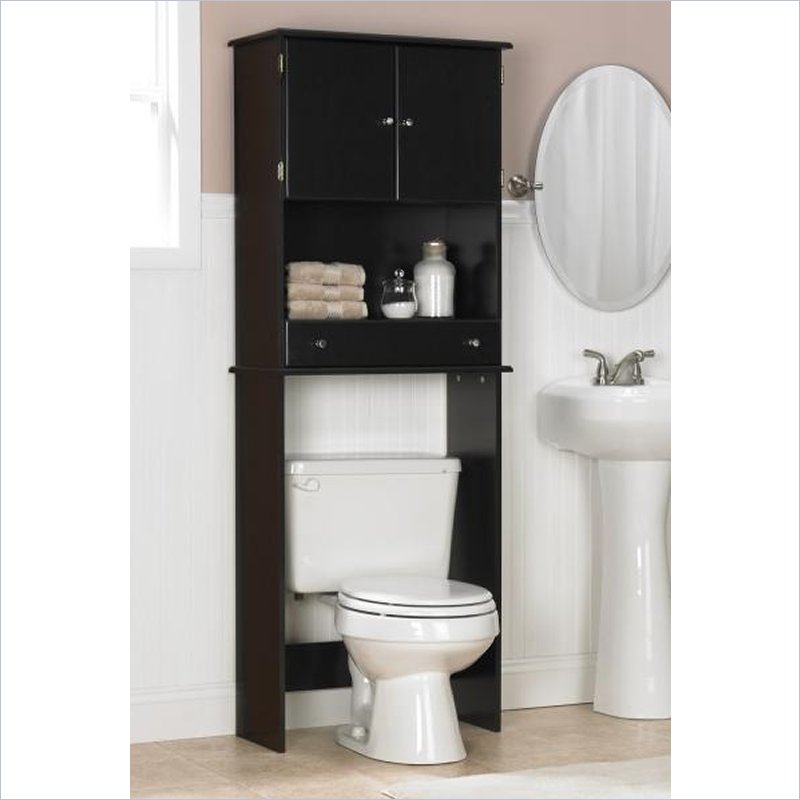 Ameriwood Over the Toilet Bathroom Space Saver Espresso  Bathroom Shelves Over Toilet