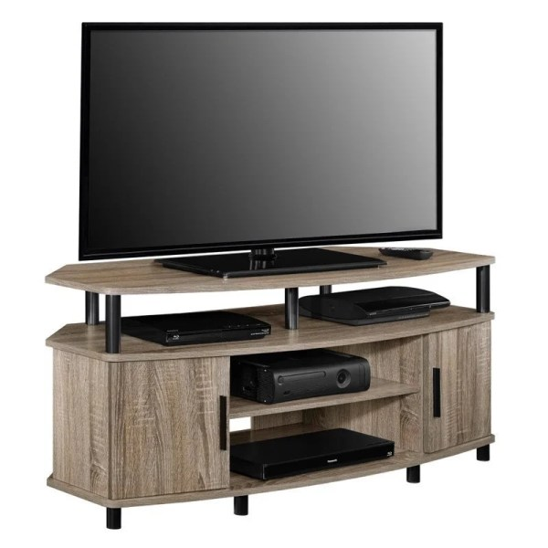50'' Corner Tv Stand In Distressed Gray Oak - 1797296com