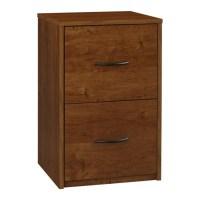 2 Drawer Wood Vertical File Cabinet in Oak