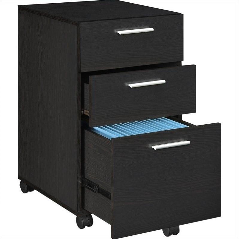 3 Drawer Mobile File Cabinet in Espresso  9531096