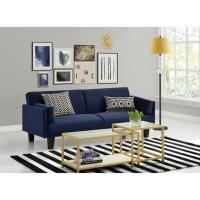 Ameriwood Metro Microfiber Convertible Sofa in Navy Blue ...