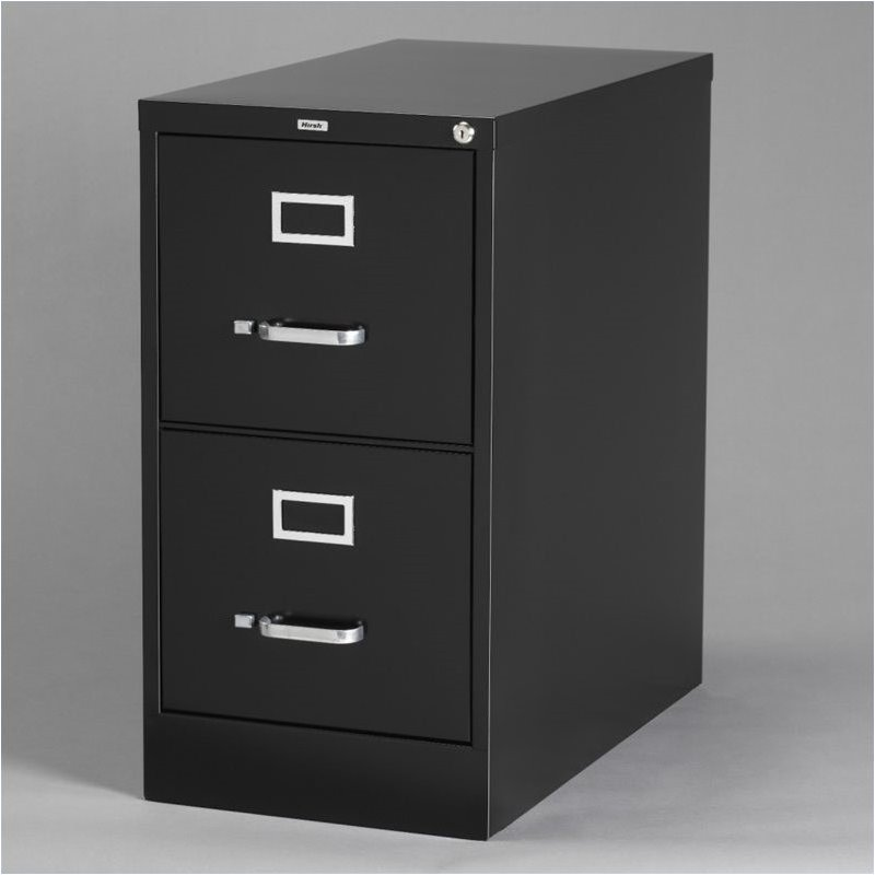 2 Drawer Letter File Cabinet in Black  17890