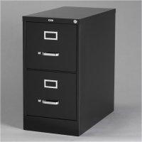 2 Drawer Letter File Cabinet in Black - 17890