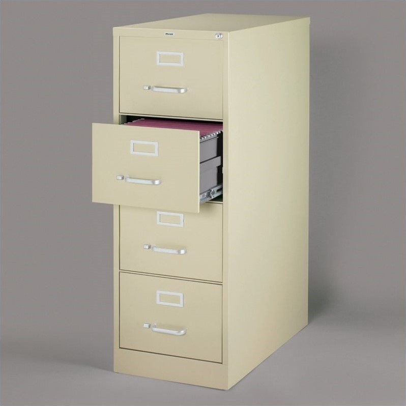 4 Drawer Legal File Cabinet in Putty  16701