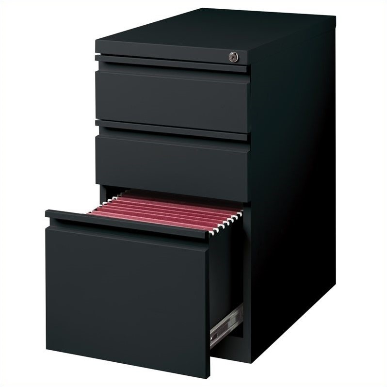 3 Drawer Mobile File Cabinet File in Black  18575