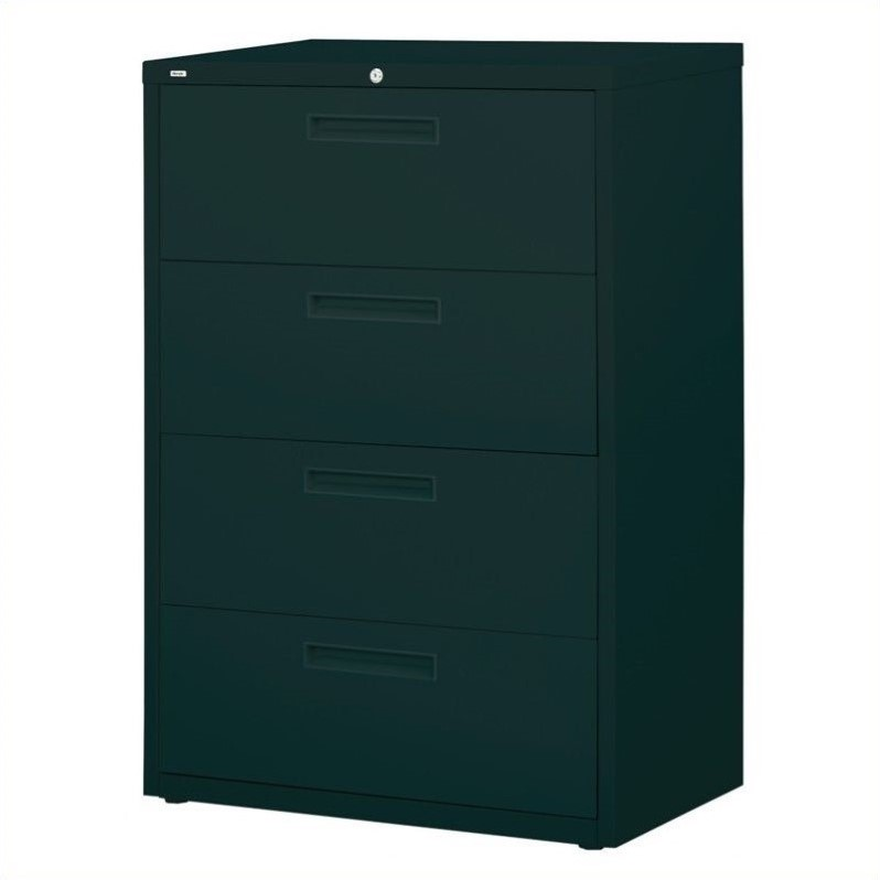 4 Drawer Lateral File Cabinet in Black  14968