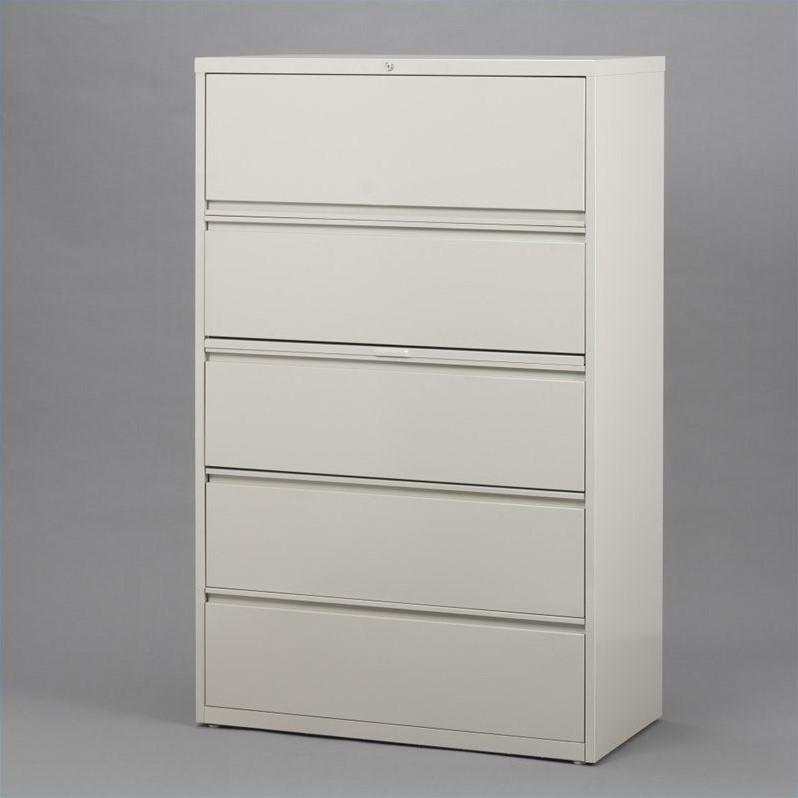 5 Drawer Lateral File Cabinet in Gray  14981