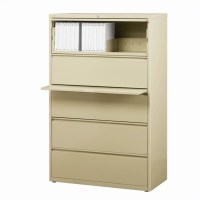 5 Drawer Lateral File Cabinet in Putty - 14991