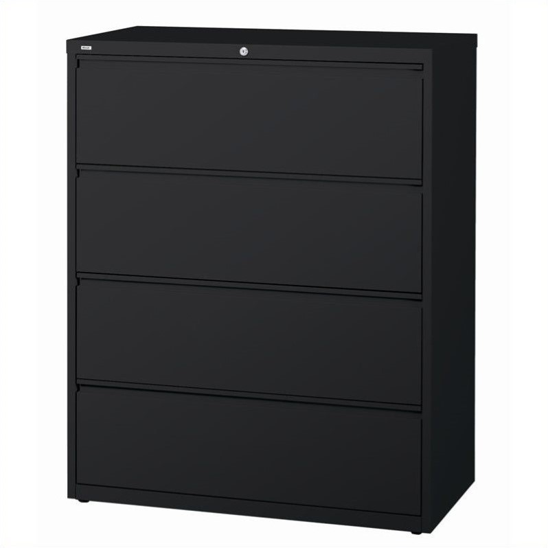 4 Drawer Lateral File Cabinet in Black  15001