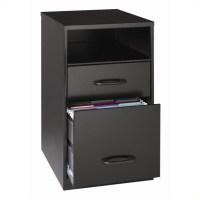 2 Drawer File Cabinet in Black - 18505