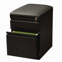 Filing Cabinet File Storage Mobile Seat Box-in Black 2 ...