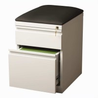 Mobile Seat Box-File Cabinet in White - 19334