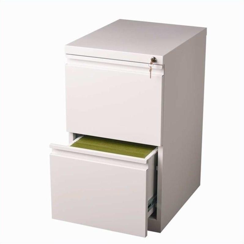 Hirsh Industries 2 Drawer Mobile File White Filing Cabinet