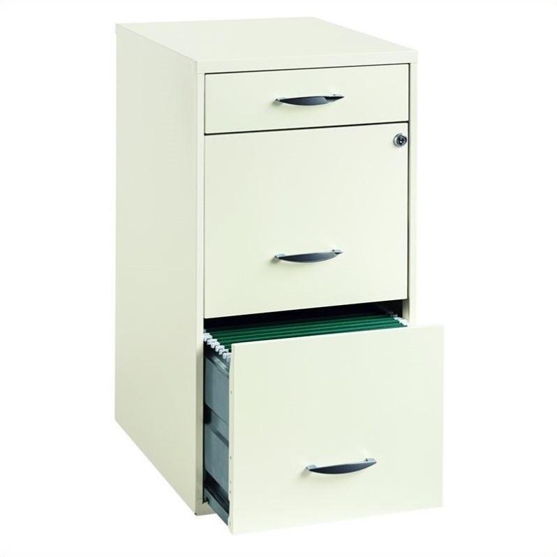 """Hirsh Industries 18"""" Deep 3 Drawer Steel File Cabinet in"""