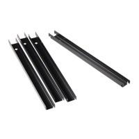 File Cabinet Rail in Black (Set of 4) - 15300