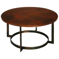 Hammary Nueva Round Cocktail Copper Coffee Table | eBay