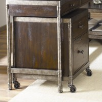 Hammary Structure Mobile File Cabinet in Distressed Brown ...