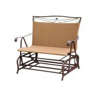 Resin Wicker/Steel Double Patio Glider Chair