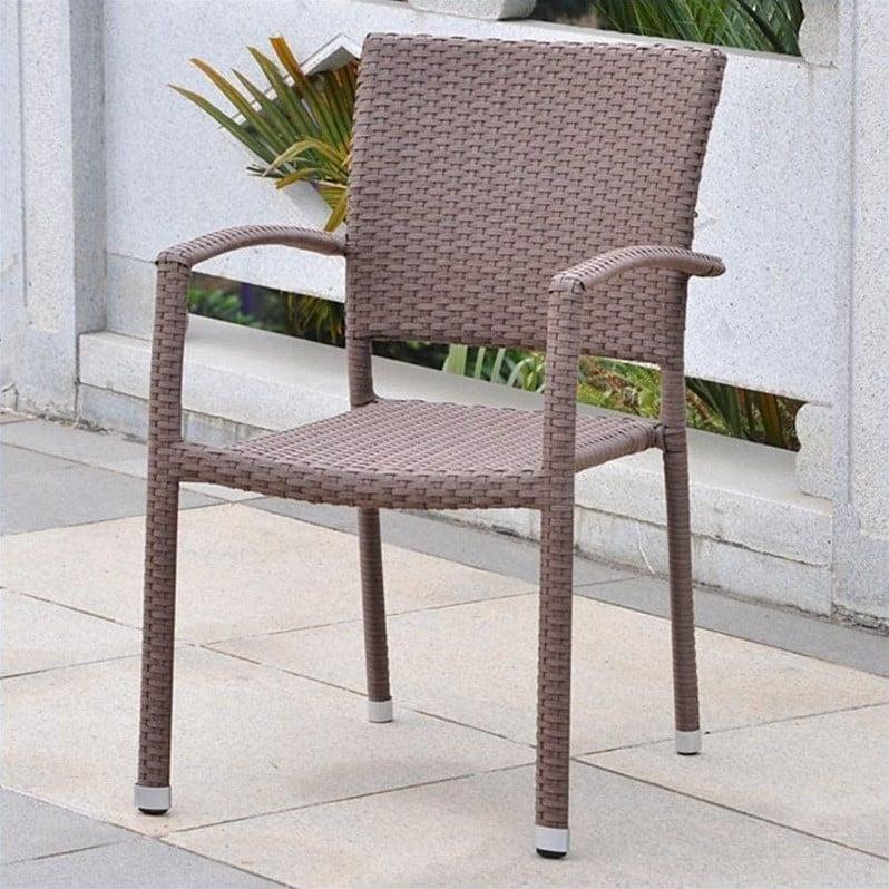 International Caravan Resin WickerAluminum Patio Dining Chair Set of 2  eBay
