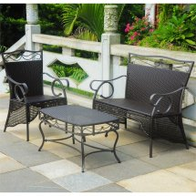 valencia 3 piece resin wicker patio
