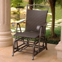 Single Patio Glider Chair in Chocolate - 4103-SGL-CH