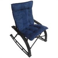 International Caravan Wembley Folding Rocking Chair Indigo ...