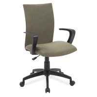 Leick Apostrophe Linen Office Chair in Sage Green - 10115GN