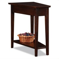 Leick Furniture Recliner Wedge Table in a Chocolate Oak ...