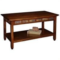 Leick Furniture Rustic Slate Rectangular Coffee Table in ...