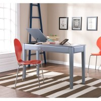 Holly & Martin Uphove Computer Desk in Cool Gray - HO9773