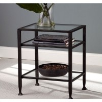 Holly & Martin Guthrie Metal End Table in Distressed Black ...