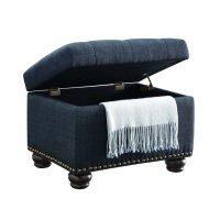 Storage Ottoman in Blue - 163010FBE