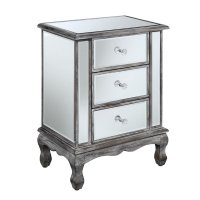 3 Drawer Mirrored End Table - 413359WGY