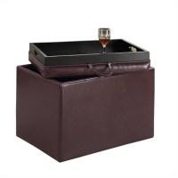 Accent Storage Ottoman - Purple - 143523P