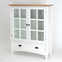 1 Shelf Barrister Bookcase with Glass Door in White - 9122W