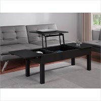 Altra Furniture Parsons Lift Top Coffee Table in Black ...