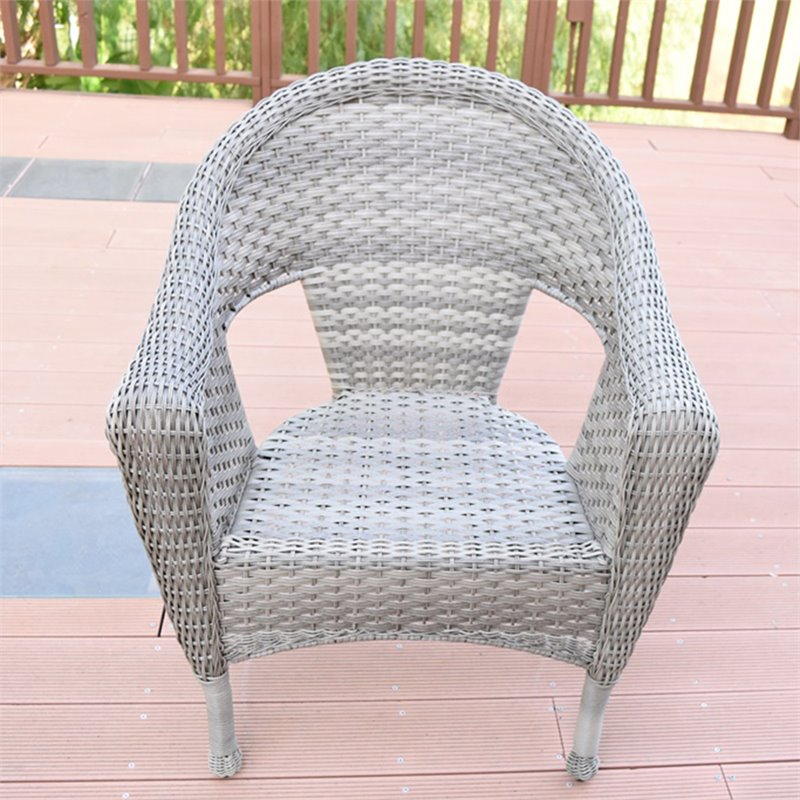 jeco clark wicker patio chair in gray and tan set of 2