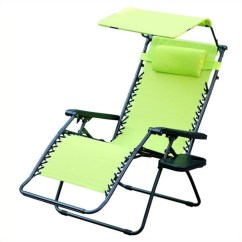 What Is A Zero Gravity Chair Tie Back Covers For Wedding Jeco Oversized With Sunshade In Lime Green Gc6