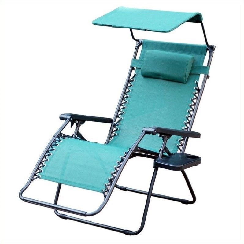 anti gravity chair table eames office chairs jeco oversized zero with sunshade in green gc7