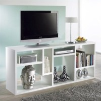 Bookcase TV Stand in White - 7154149