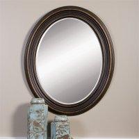 Uttermost Ovesca Decorative Mirror in Dark Oil Rubbed ...