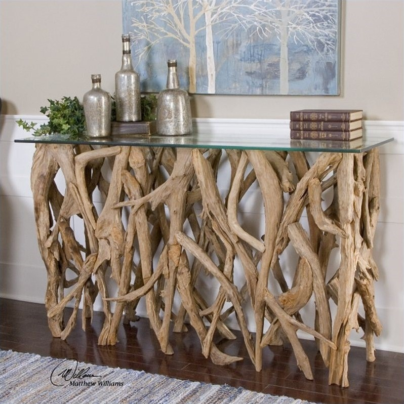 teak sofa table end tables uk uttermost wood console in 25593