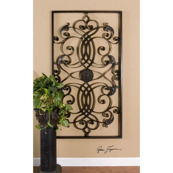 Uttermost Effie Rectangle Metal Wall Art In Aged Black - 07527