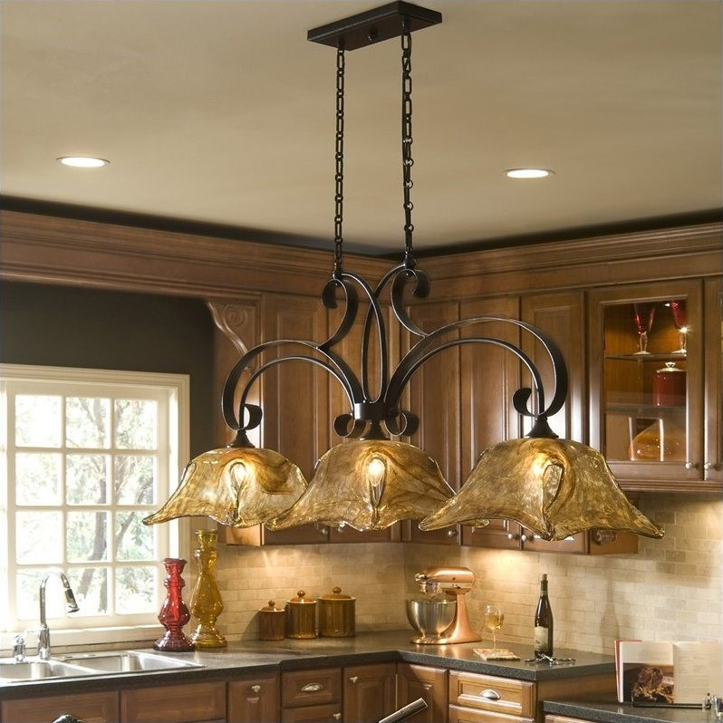 Uttermost Vetraio 3 Light Kitchen Island Light in Bronze